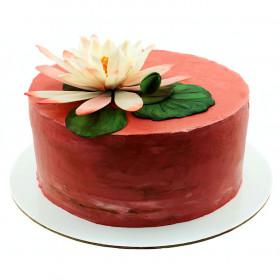 Торт с цветами Лотос