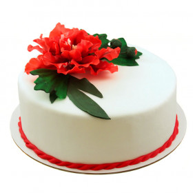Торт с цветком Пиона