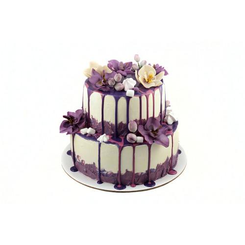 Торты с мастичными цветами