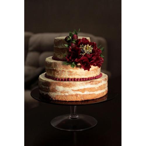 Открытый торт на свадьбу