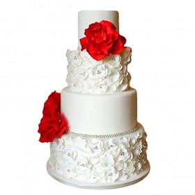 Свадебный многоярусный торт из мастики