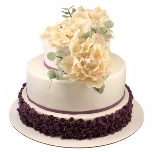 Свадебный торт с Пионами
