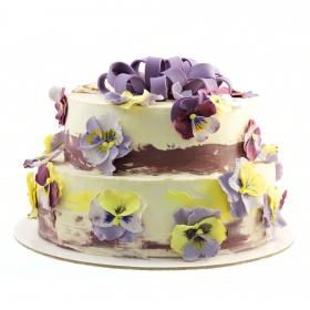 Свадебный торт Анютины глазки