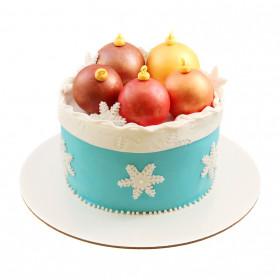 Торт на Новый год с шарами
